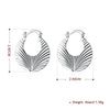 V Cut Hoop Earring in 18K White Gold Plated