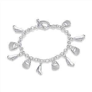 The Shopping Lady Bracelet in 18K White Gold Plated