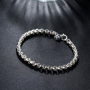 Silver Intertwined Box Bracelet