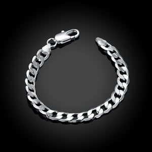 Silver Thick Cuban Figaro Bracelet