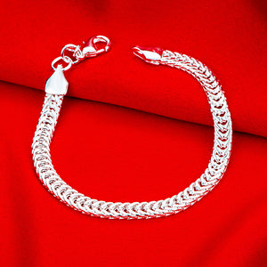 Miami Curb Chain Bracelet in 18K White Gold Plated