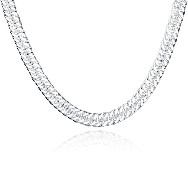 Men's Stainless Steel Diamond Cut Cuban Necklace