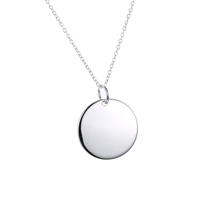 Classic Circle Necklace in 18K White Gold Plated, Necklace, Golden NYC Jewelry, Golden NYC Jewelry  jewelryjewelry deals, swarovski crystal jewelry, groupon jewelry,, jewelry for mom,