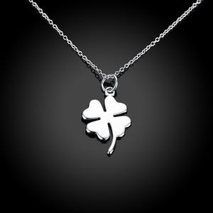 Clover Necklace in 18K White Gold Plated, Necklace, Golden NYC Jewelry, Golden NYC Jewelry  jewelryjewelry deals, swarovski crystal jewelry, groupon jewelry,, jewelry for mom,