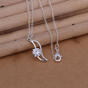 Teardrop Necklace in 18K White Gold Plated