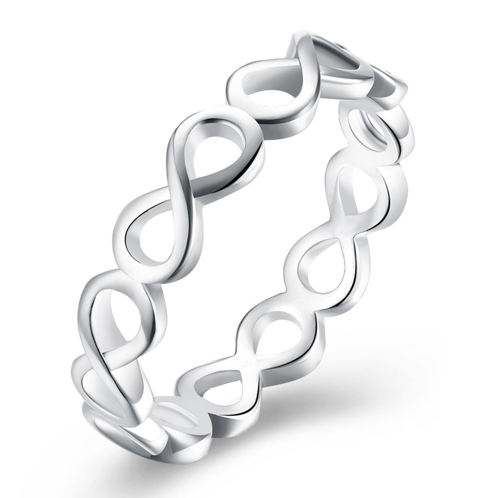 Infinity Loop Ring in Silver Plating