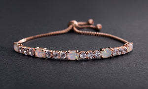 Fiery Opal Tennis Bracelet With Swarovski Crystals, , Golden NYC Jewelry, Golden NYC Jewelry  jewelryjewelry deals, swarovski crystal jewelry, groupon jewelry,, jewelry for mom,