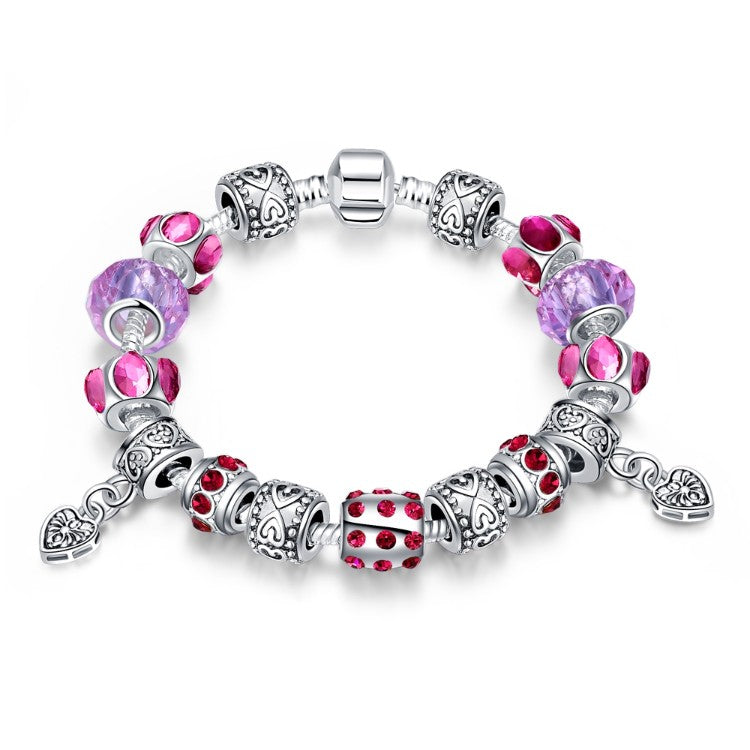 Purple Passion Pandora Inspired Bracelet, Bracelet, GoldenNYCJewelry, Golden NYC Jewelry fashion jewelry, cheap jewelry, jewelry for mom,