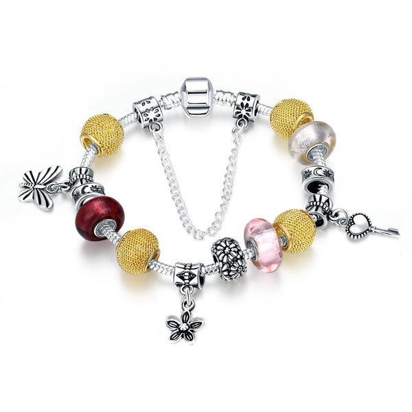 The Key to My Heart Pandora Inspired Bracelet - Golden NYC Jewelry www.goldennycjewelry.com fashion jewelry for women