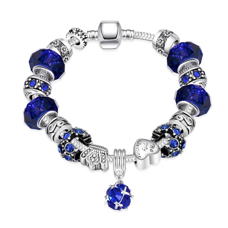 50 Shades of Color Pandora Inspired Bracelet - Golden NYC Jewelry