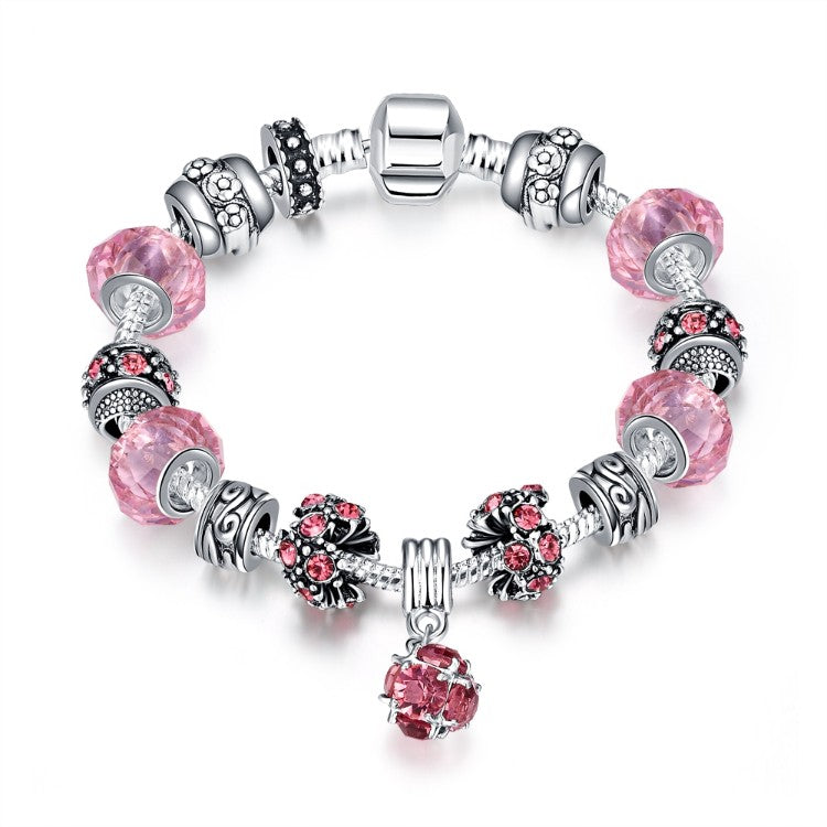 50 Shades of Pink Pandora Inspired Bracelet, Bracelet, GoldenNYCJewelry, Golden NYC Jewelry  jewelryjewelry deals, swarovski crystal jewelry, groupon jewelry,, jewelry for mom,