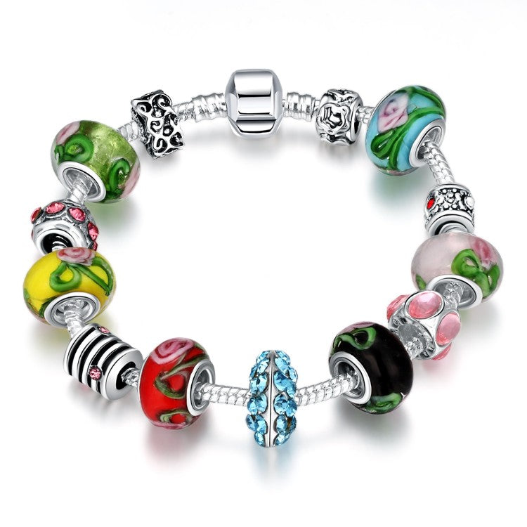 Colors Of the Rainbow Pandora Inspired Bracelet - Golden NYC Jewelry