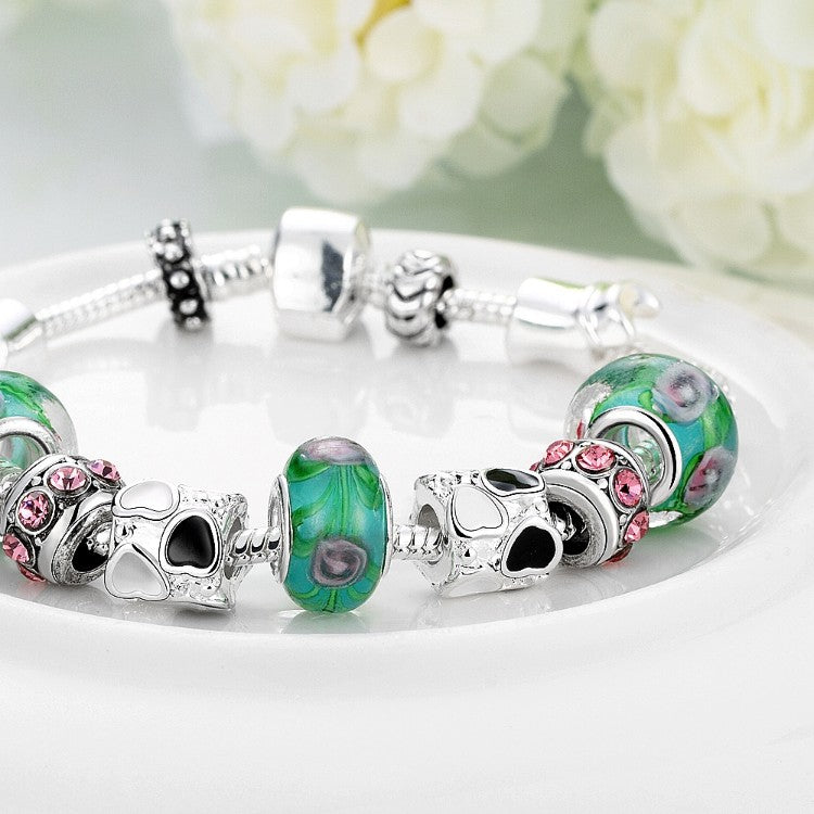 Delicious Cotton Candy Pandora Inspired Bracelet - Golden NYC Jewelry