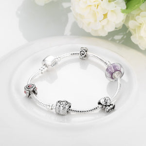 The Beauty of Simplicity Pandora Inspired Bracelet - Golden NYC Jewelry