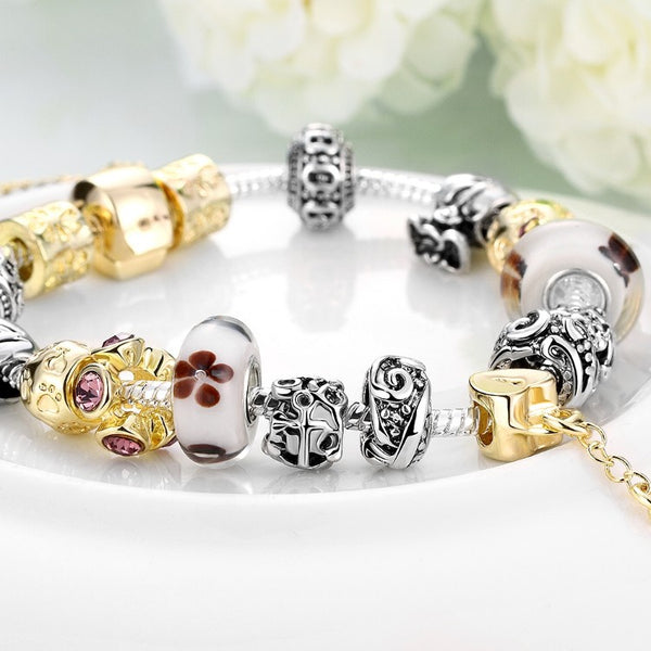 Lock & Capture My Heart Pandora Inspired Bracelet, Bracelet, GoldenNYCJewelry, Golden NYC Jewelry fashion jewelry, cheap jewelry, jewelry for mom,
