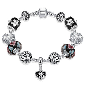 Flower Pedals Pandora Inspired Bracelet, Bracelet, GoldenNYCJewelry, Golden NYC Jewelry  jewelryjewelry deals, swarovski crystal jewelry, groupon jewelry,, jewelry for mom,