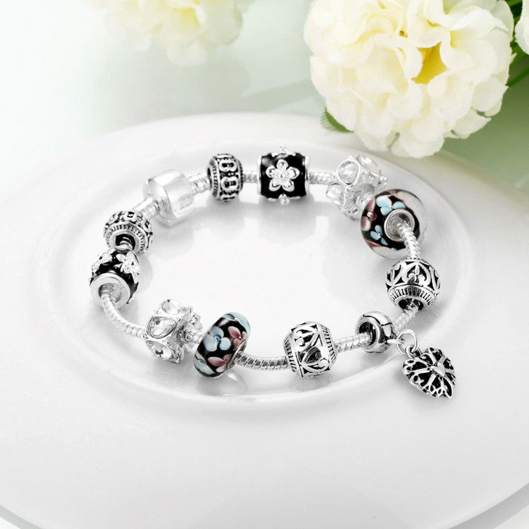 Flower Pedals Pandora Inspired Bracelet - Golden NYC Jewelry