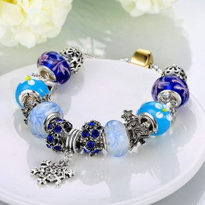 Royal Blue Star of David Pandora Inspired Bracelet, Bracelet, GoldenNYCJewelry, Golden NYC Jewelry fashion jewelry, cheap jewelry, jewelry for mom,