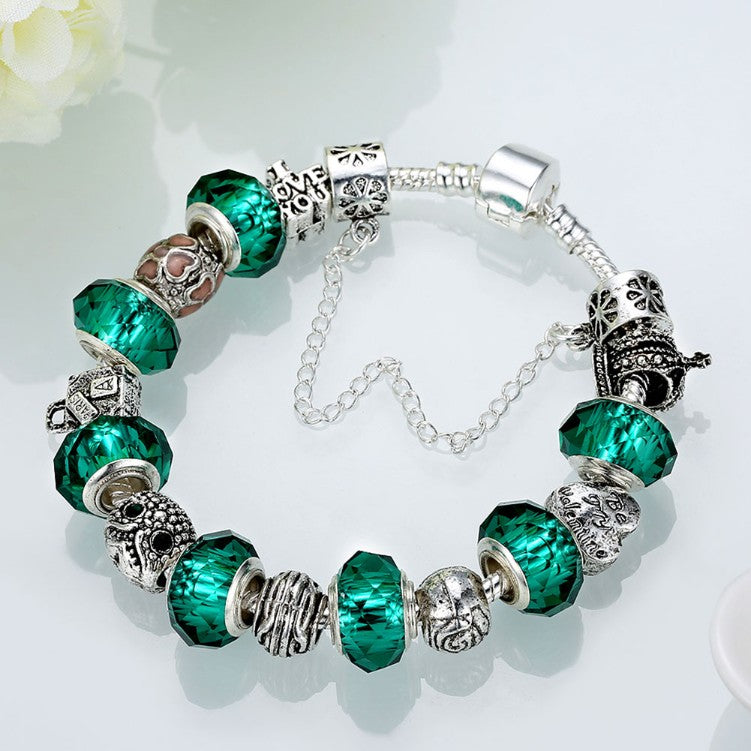 Green Meadows Pandora Inspired Bracelet, Bracelet, GoldenNYCJewelry, Golden NYC Jewelry fashion jewelry, cheap jewelry, jewelry for mom,