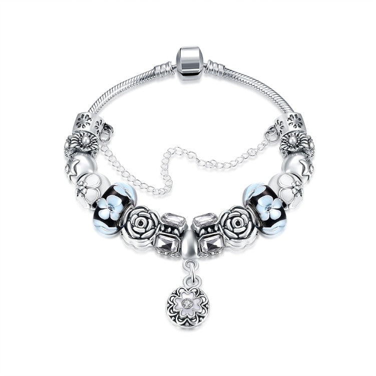Royal Floral Petite Emblem Pandora Inspired Bracelet, Bracelet, GoldenNYCJewelry, Golden NYC Jewelry  jewelryjewelry deals, swarovski crystal jewelry, groupon jewelry,, jewelry for mom,