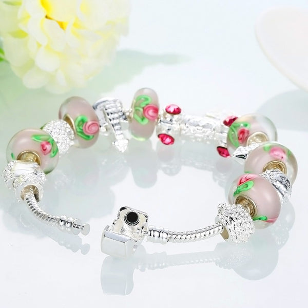 Apple Candy Pandora Inspired Bracelet, Bracelet, GoldenNYCJewelry, Golden NYC Jewelry fashion jewelry, cheap jewelry, jewelry for mom,