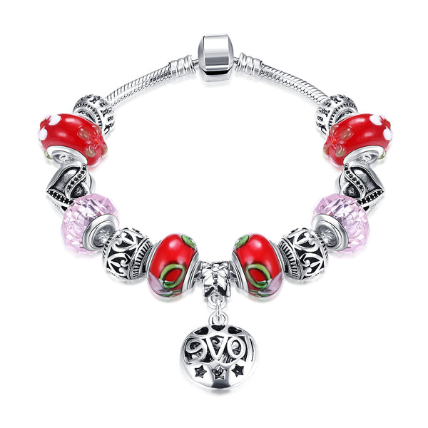 Red Sweet Candy Can Pandora Inspired Bracelet