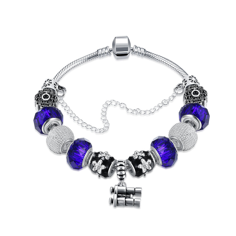 Looking For You In Blue Pandora Inspired Bracelet