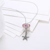 Sterling Silver 2 Piece Necklace- Pink Starfish - Golden NYC Jewelry Pandora Jewelry goldennycjewelry.com wholesale jewelry