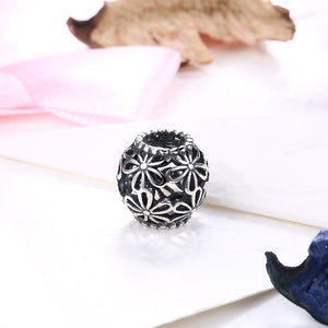 Sterling Silver Laser Cut Filigree Floral Charm - Golden NYC Jewelry www.goldennycjewelry.com fashion jewelry for women