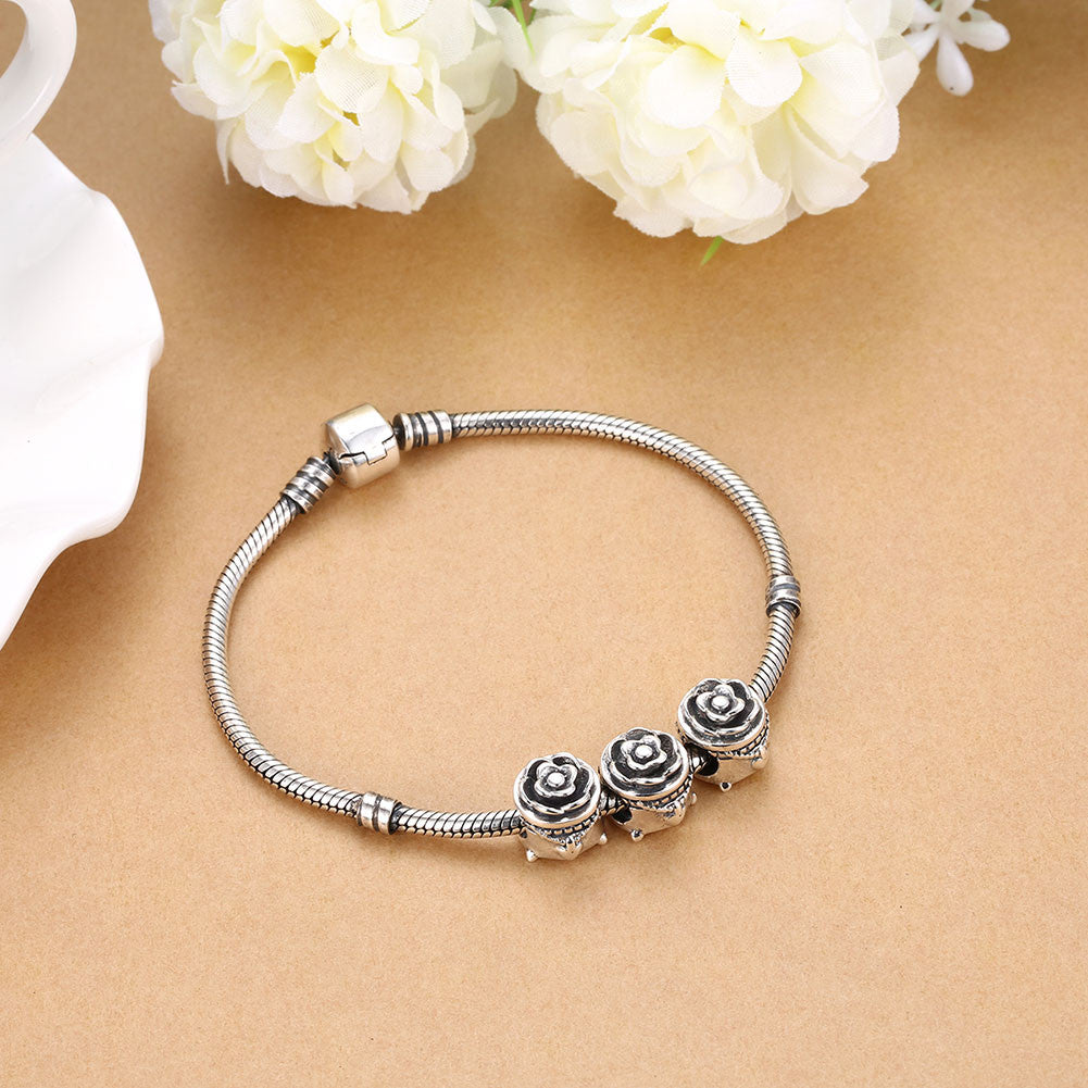 Sterling Silver Classic Sleek Daisy Charm - Golden NYC Jewelry Pandora Jewelry goldennycjewelry.com wholesale jewelry