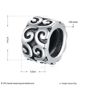 Sterling Silver Curved Royal Emblem Design Charm - Golden NYC Jewelry Pandora Jewelry goldennycjewelry.com wholesale jewelry