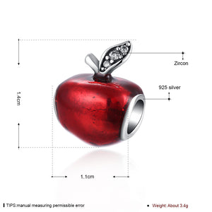 Sterling Silver Healthy Red Apple Fruit Charm - Golden NYC Jewelry Pandora Jewelry goldennycjewelry.com wholesale jewelry