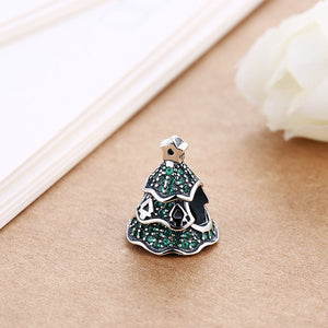 Sterling Silver Green Tree Pave CZ Christmas Tree Charm - Golden NYC Jewelry Pandora Jewelry goldennycjewelry.com wholesale jewelry