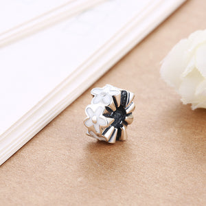 Sterling Silver Eternity White Daisy Floral Charm - Golden NYC Jewelry Pandora Jewelry goldennycjewelry.com wholesale jewelry