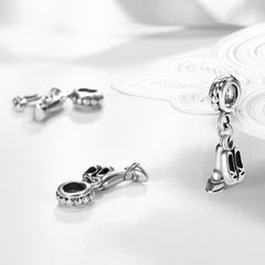 Sterling Silver Ballerina 2 PC Charm with Shoes and Attire - Golden NYC Jewelry Pandora Jewelry goldennycjewelry.com wholesale jewelry