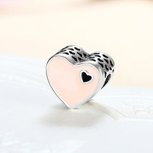 Sterling Silver Duo Coral Heart Charm - Golden NYC Jewelry Pandora Jewelry goldennycjewelry.com wholesale jewelry