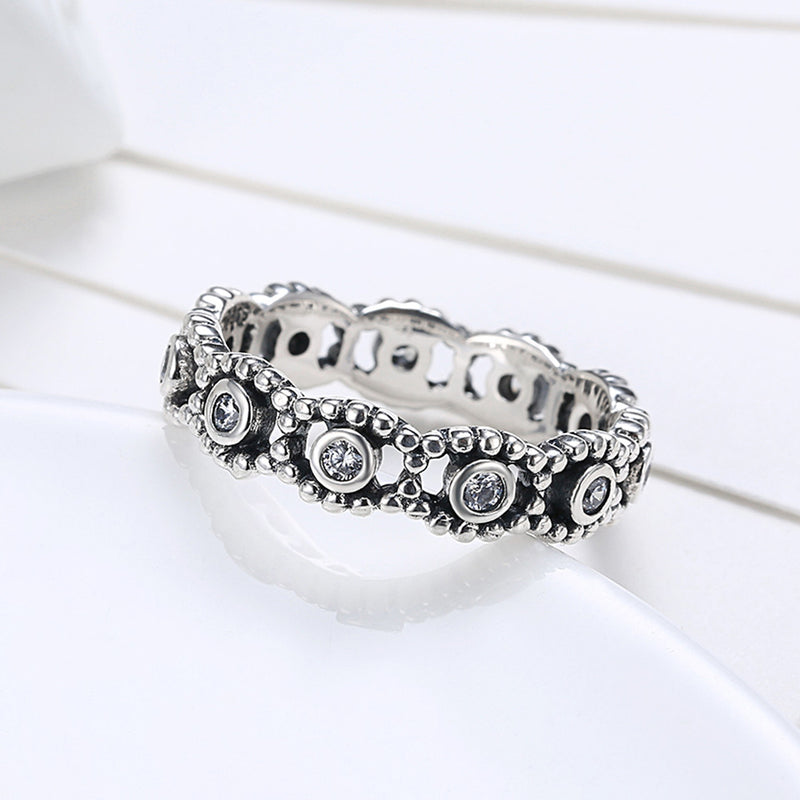 Sterling Silver Pandora Inspired Floral Twist Ring - Golden NYC Jewelry www.goldennycjewelry.com fashion jewelry for women