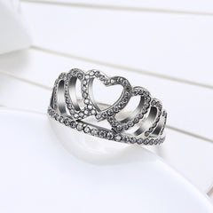 Sterling Silver Pandora Inspired Princess Crown Ring - Golden NYC Jewelry Pandora Jewelry goldennycjewelry.com wholesale jewelry