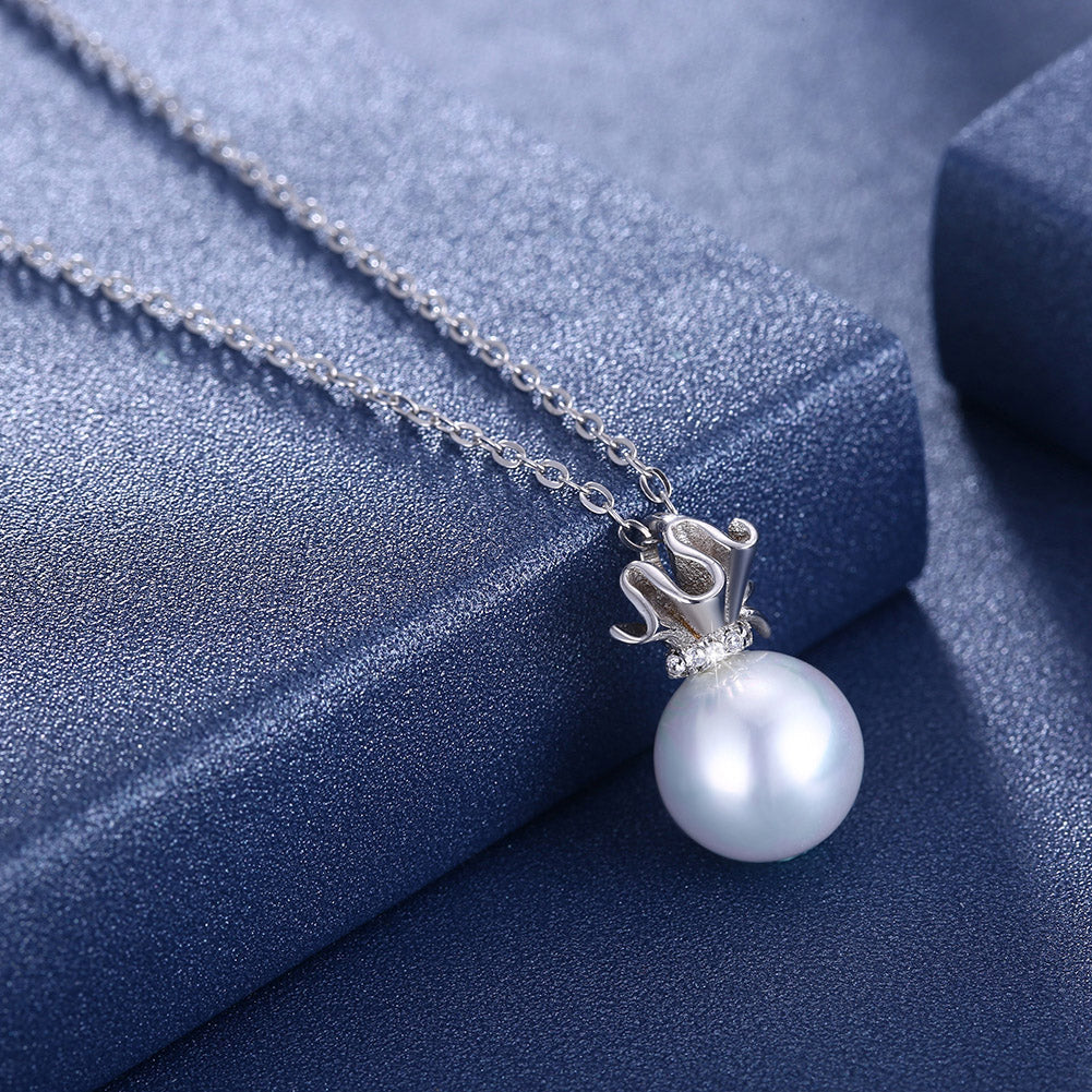 Sterling Silver Tiarra Freshwater Pearl Necklace