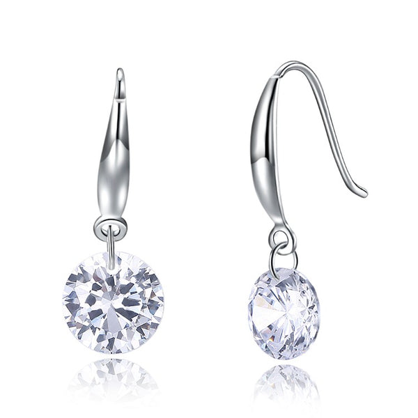 Swarovski Crystal Drop Hook Earring Set in 18K White Gold Plated