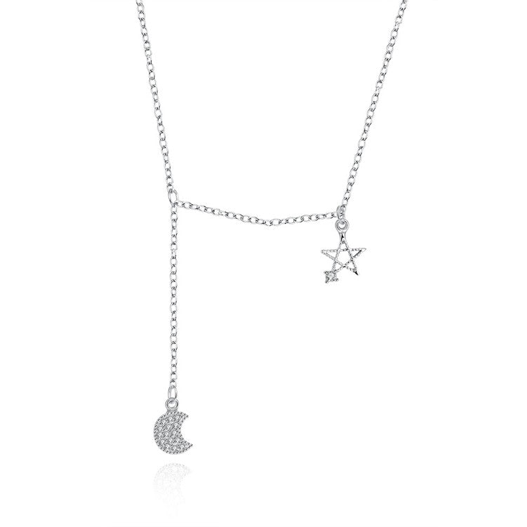 Moon & Star Necklace - Golden NYC Jewelry www.goldennycjewelry.com fashion jewelry for women