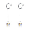 Sterling Silver Dangling Aurora Borealis Earrings