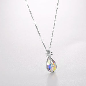 5.00 CT Aurora Borealis Stone Sterling Silver Swarovski Crystal Teardrop Necklace, Necklaces, Golden NYC Jewelry, Golden NYC Jewelry  jewelryjewelry deals, swarovski crystal jewelry, groupon jewelry,, jewelry for mom,