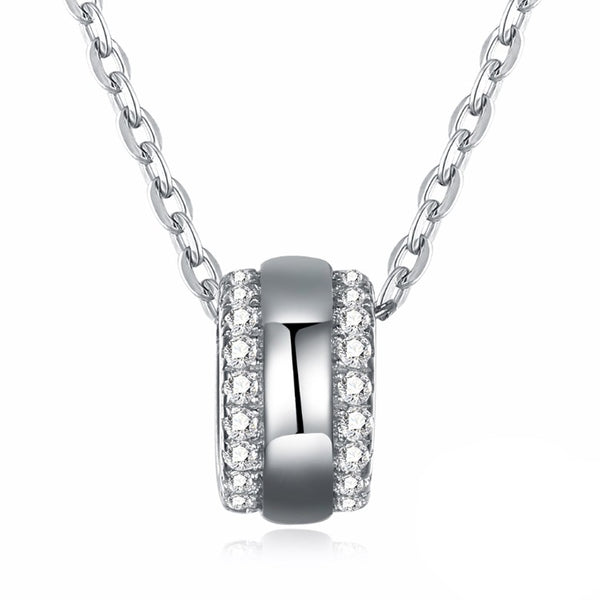 Swarovski Crystal 18K White Gold over Sterling Silver Pave Ball Necklace - Golden NYC Jewelry www.goldennycjewelry.com fashion jewelry for women