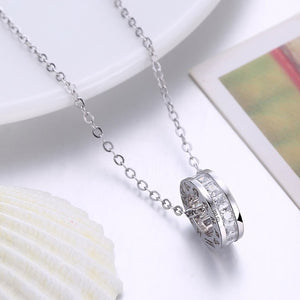 Swarovski Crystal 18K White Gold over Sterling Silver Pave Drop Necklace - Golden NYC Jewelry www.goldennycjewelry.com fashion jewelry for women