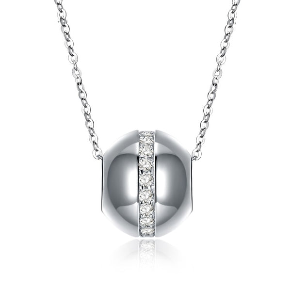 Swarovski Crystal 18K White Gold over Sterling Silver World Sphere Necklace - Golden NYC Jewelry www.goldennycjewelry.com fashion jewelry for women