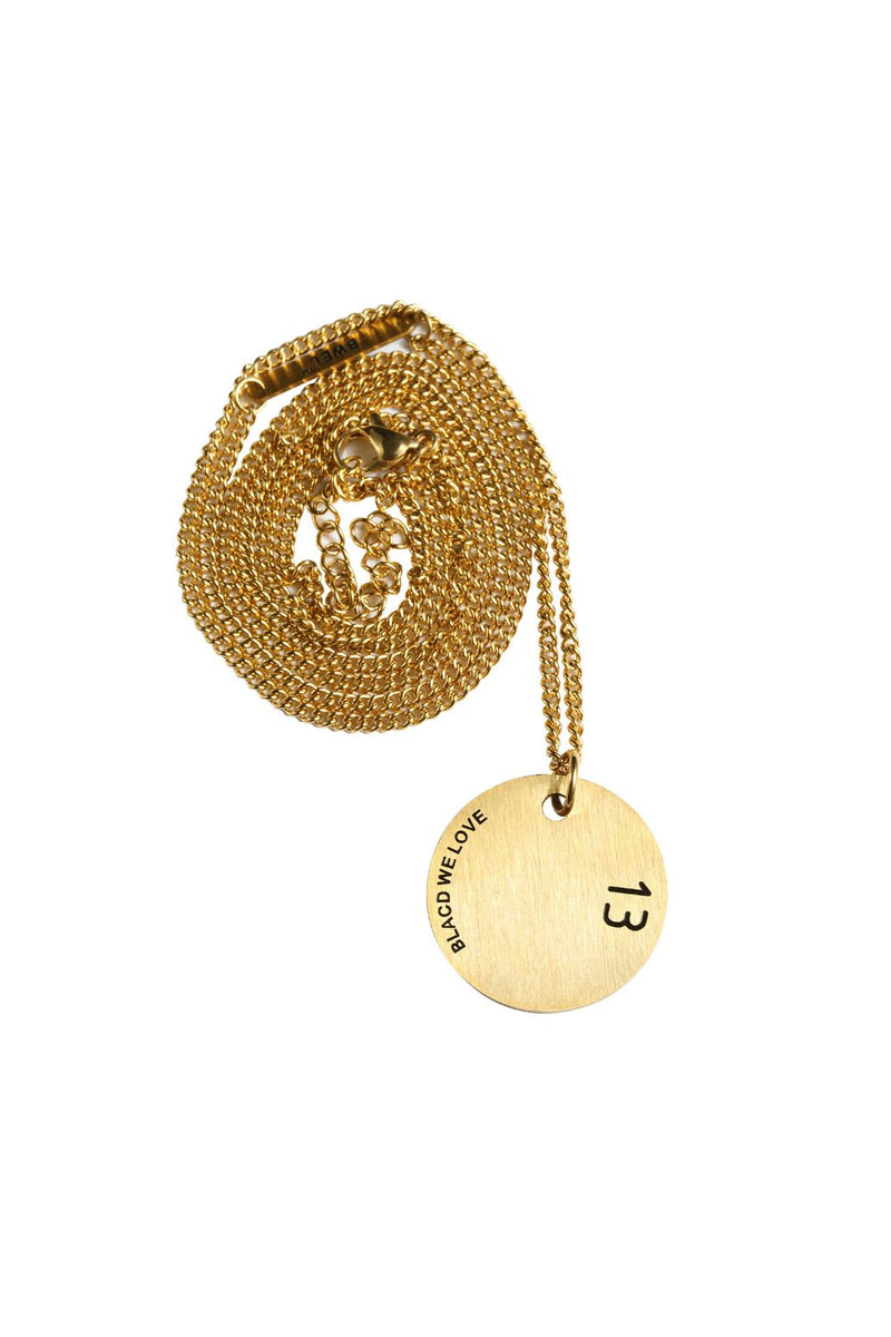 Circle Disc Pendant in 18K Gold Filled with Chain