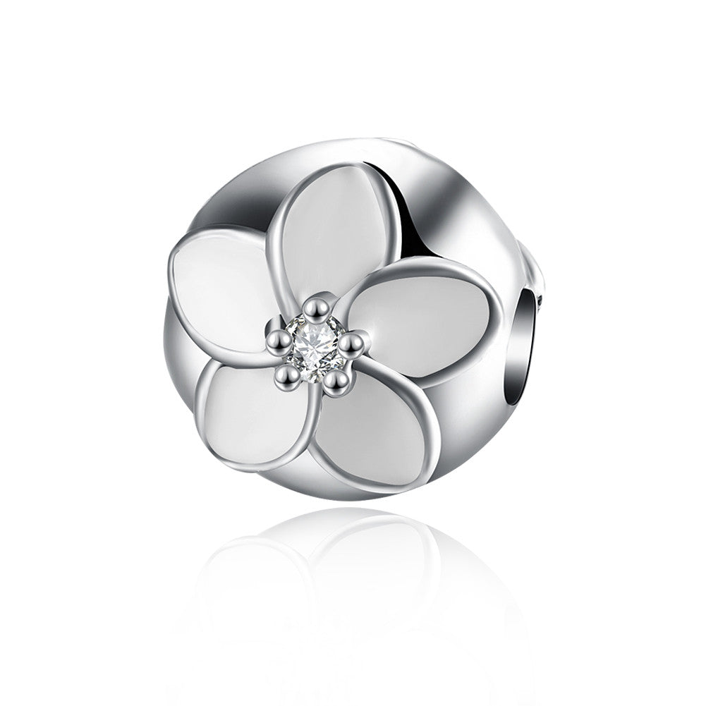 Sterling Silver Ivory Daisy Charm - Golden NYC Jewelry www.goldennycjewelry.com fashion jewelry for women