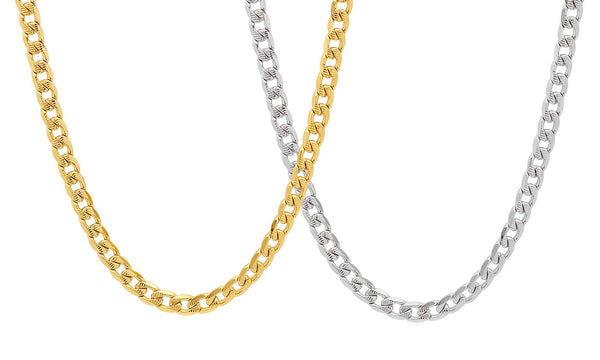 Men's Stainless Steel Diamond Cut Cuban Necklace - Golden NYC Jewelry www.goldennycjewelry.com fashion jewelry for women