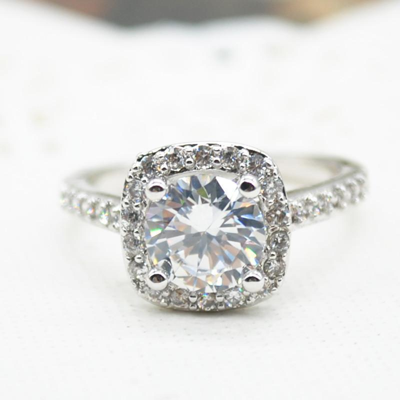 2.00CT Cushion-Cut Queen Ring, Rings, Golden NYC Jewelry, Golden NYC Jewelry fashion jewelry, cheap jewelry, jewelry for mom,